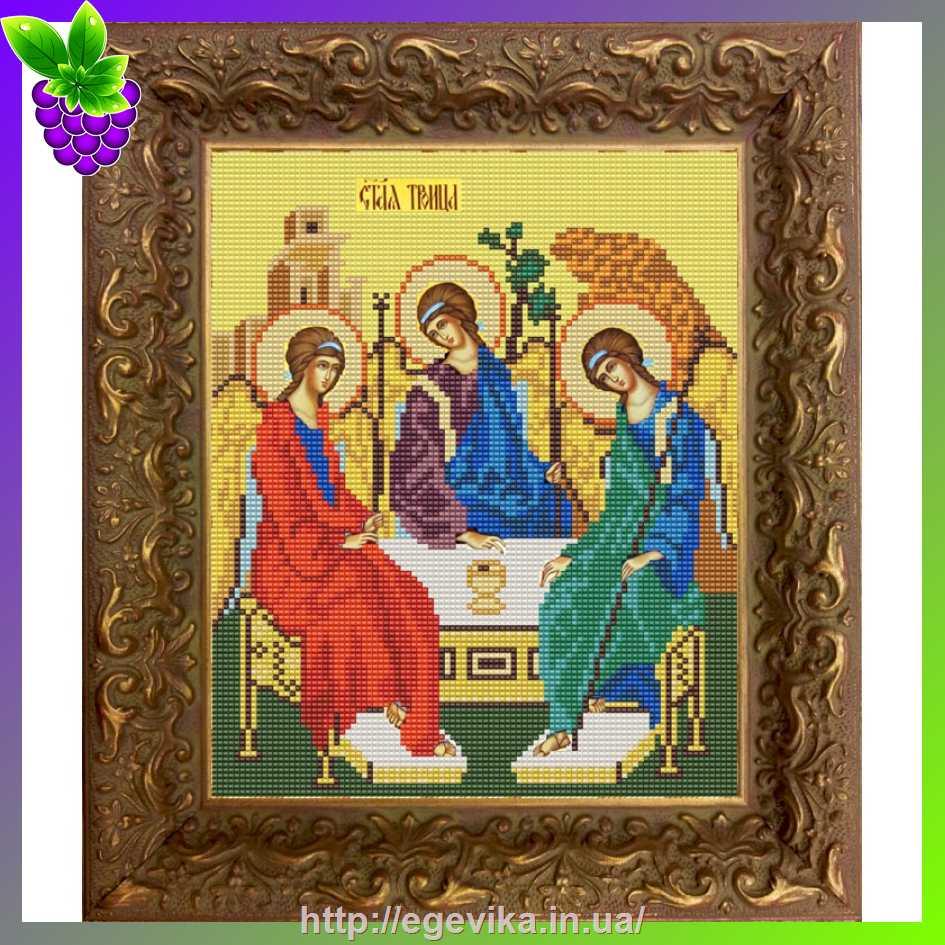 Вышивка троица икона бисером