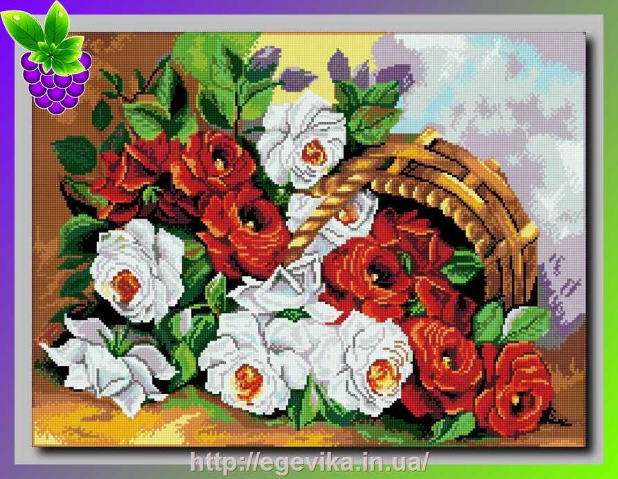 Картины с розами для вышивки 196