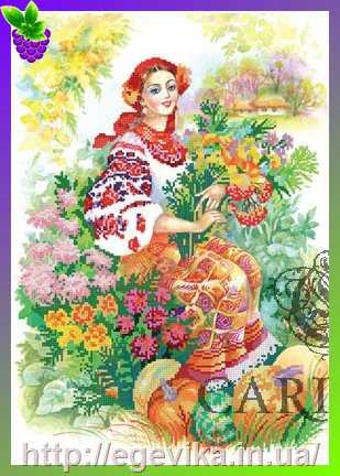 Украиночка в вышивке