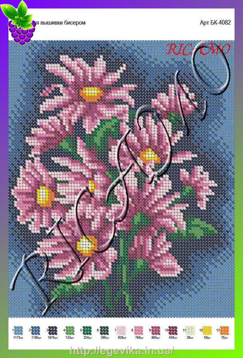 Рисунок на габардине для вышивки