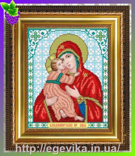Икона владимирская божья матерь вышивка бисером