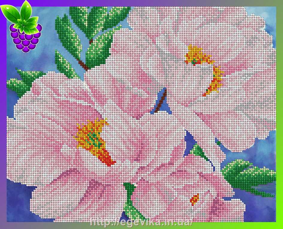Вышивка бисером цветок
