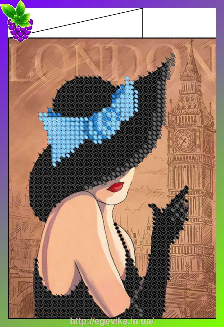 Вышивка бисером женщина в шляпе