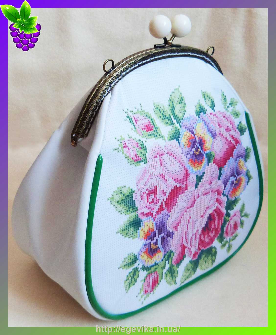 Заготовки вышивки сумок бисером 74