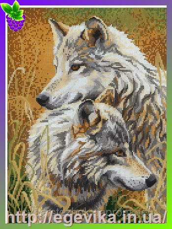 Схема вышивки крестом волки счастливая пара скачать