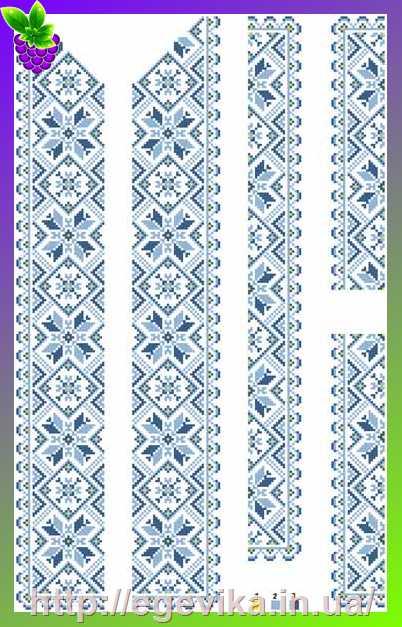Вышиванка схема узоров