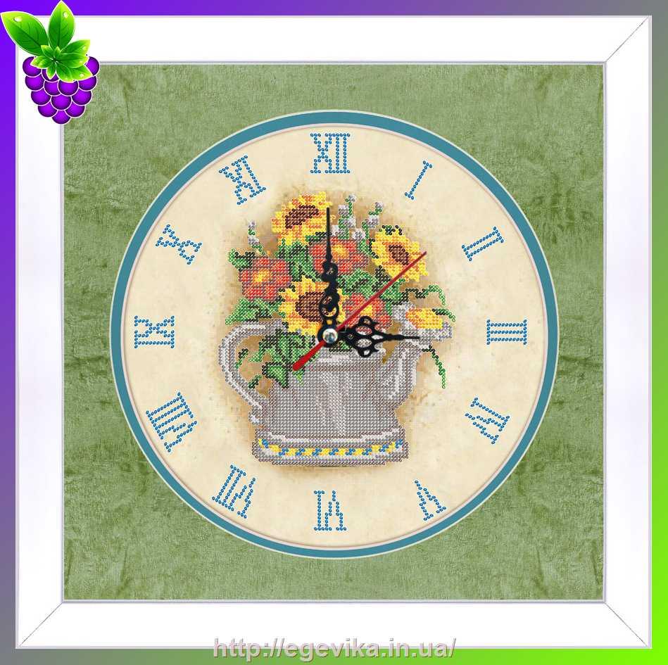 Часы с вышивкой бисером купить