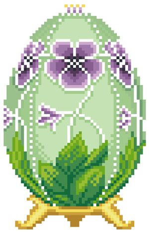 Яйцо Фаберже пасхальное яйцо из бисера схема