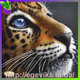 Схемы вышивки леопарда