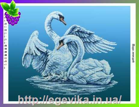 Лебеди пара вышивка схема