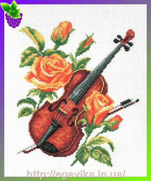 Скрипка рисунок схема