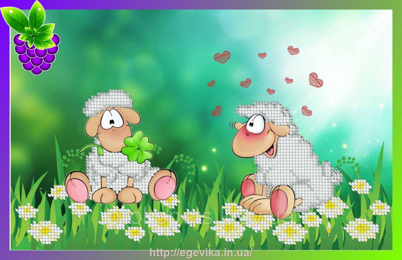 Вышивка бисером овечек
