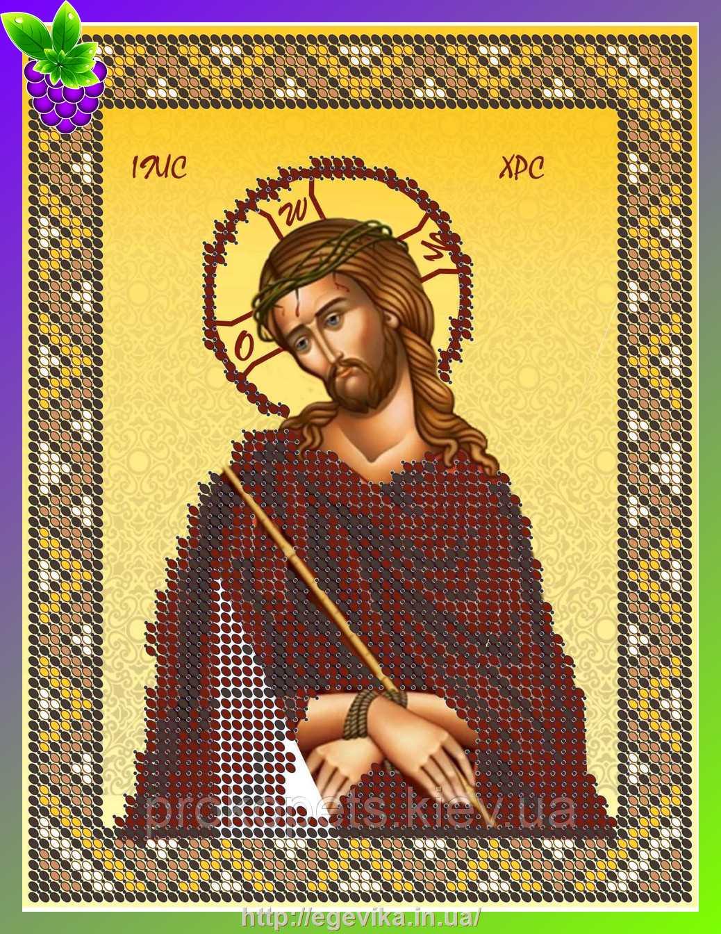 Вышивка бисером христа спасителя