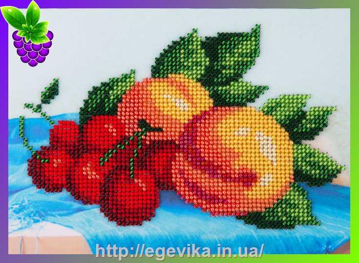 Вышивка персиков схема