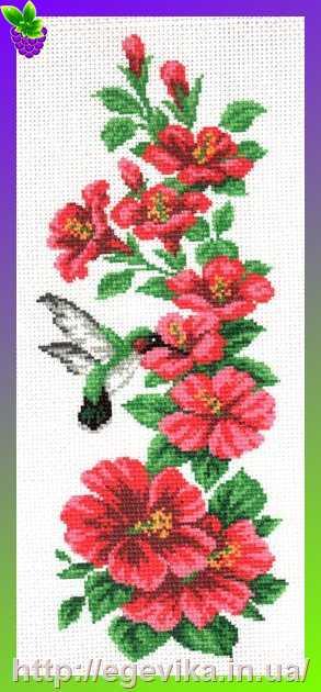 Колибри в цветах схема