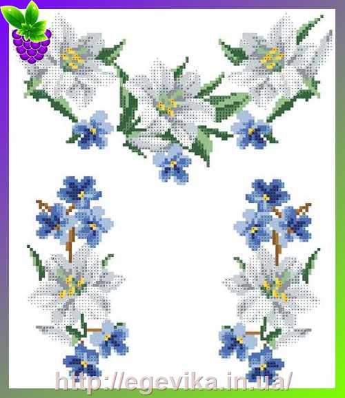Лилии вышивка из бисера