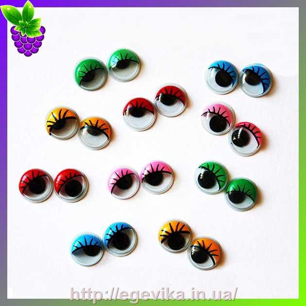 купить глазки для игрушек и скрапбукига цвет розовый 6 мм 2 шт